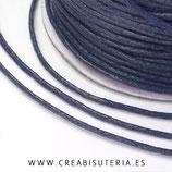 Cordón algodón encerado color Azul Marino 1,5mm (4 metros)