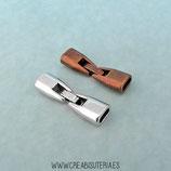 Cierre clip plano redondeado ACCCIE-R156 - 2 unidades