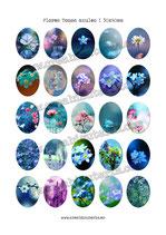 25 Imágenes de Flores en tonos Azules I 30x40mm