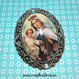 Broche vintage de la Virgen del carmen BVC01