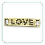 Conector pulsera Love bronce viejo cuadradob CONOOO-C02228