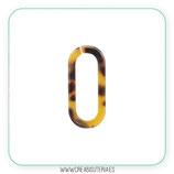 Colgante Resina - ESLABÓN  ámbar marrón - Pareja (4unidades)