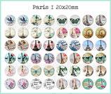 48 Imágenes Paris Vintage I 20x20mm
