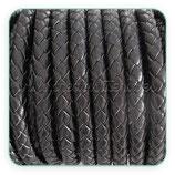 Cuero trenzado color negro 5-6mm CUE-R4725