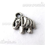 Charm suerte elefante plata pequeño CHAOOO-C00584 (10 unidades)