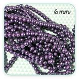 Abalorio cristal púrpura aperlado 6mm (1 tira de 145unidades aprox.) ABAL-Cristal C08875