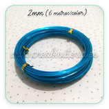 Aluminio 2mm 3METROS/color AZUL PACK 2