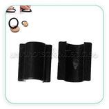 Accesorios pelo - Pieza para confección de goma para el pelo- C44316 negra (10 piezas)