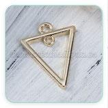 Charm geométrico - triángulo aro  ZAMAK oro  C0088137