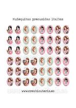 Muñequitas presumidas (48 muñecas) 13x18mm