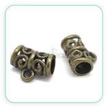 Entrepieza con ASA - EA-004- ornam bronce viejo (10 piezas) ENTOOO-C18045