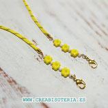 Producto acabado - Cordón para mascarilla cordón escalada y 3 margaritas amarillas  CM006