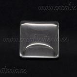 Cabuchón cuadrado de cristal 12mm (10 unidades)