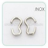 INOX - Conector mini en forma de S   (100 unidades) PN040