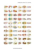 60 Imágenes de muñecas de ilustraciones de años 80III 18x25mm