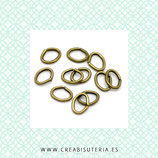 Anillas ovaladas 5,5x4mm ACCANI-C10861 (50 anillas)