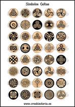 Lámina Imágenes de Símbolos Celtas Tierra  I