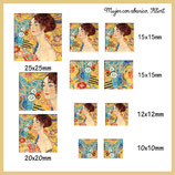 Imagen Monotema Formato CUADRADO- Mujer con Abanico de Klimt