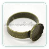 Anillo bronce antiguo ovalado 10x10mm ANIOOO-C16983