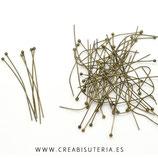 BASTON ALFILER CON CABEZA REDONDA PARA ENGARZAR 4,5cm (30 unidades) ACCBAS-C088