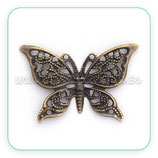Mariposa bronce antiguo ADOOOO-C0101490 (10 unidades)