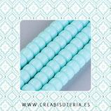 Abalorios -  Cristal donuts recatngular  8x5mm  P36109 (Tira de69 piezas aprox.)