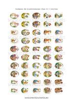 50 Imágenes de muñecas de ilustraciones de años 80 I 18x25mm