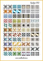 Lámina azulejos vintage 002