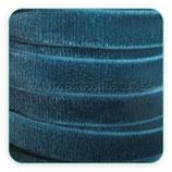 Cinta terciopelo elástico 9mm color Azul verdoso oscuro