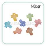 Concha en forma de cruz de colores  charm (10 unidades) CONCH-C77539