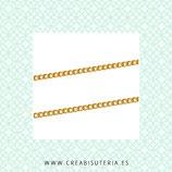Cadena sencilla dorado eslabón pequeño  enlazado 3x2mm (10m) C487