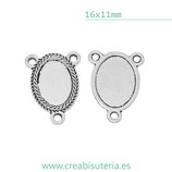 Camafeo oval para rosarios   (10 unidades)