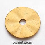 Aro -Pieza dorado viejo en forma de aro sólido ancho con agujero pequeño interior P204Y (2 unidades)