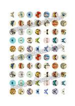 70 Imágenes vintage de mariposas 18x18mm