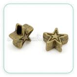Entrepieza b1 - 01 estrella mini rayita bronce antiguo 6mm (20piezas) ENTOOO-C14987