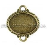 Conector Oval 13x18 pulsera bronce antiguo CONOOO-CS4271-4