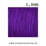Cordón macramé Gama Deluxe 0,8mm  Color Lila oscuro  (5 metros)