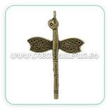 Colgante libélula cabeza bronce antiguo COLOOO-C12795 (10 unidades)