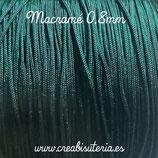 Cordón macramé 0,8mm 115m Verde Oscuro