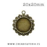 Camafeo 20mm ornamental CAMBAS-C12687 (10 unidades)