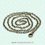 Cadena sencilla con cierre bronce antiguo 40cm HIPOALERGENICA 051cm