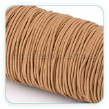 Cordón de goma marrón claro ocre  2mm (4 metros)