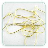 Ganchos pendientes - 24 Pares Gancho Hippie mediano cerrado 24mm largo dorado
