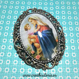 Broche vintage de La Virgen y el Niño Jesús  BVirgen01