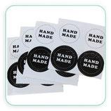 Etiquetas adhesivas Hand Made blanco y negro  20 unidades C71519
