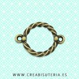 Conector A - 016 - circulo cuerda adorno bronce viejo-C28915 (10 unidades)