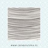 Cordón de goma  elástica Blanco 1,2mm (15metros)