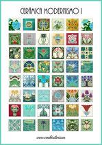 Lámina 48  Imágenes cerámica Modernismo I 25x25mm