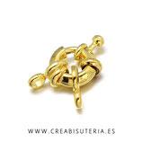 Cierre marinero anillo latón dorado 12,5mm p82 (Unidad)