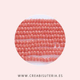 Abalorios -  Cristal facetado  Deluxe 3x2mm color coral P16